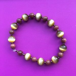 Jewelry - Tiger Eye and Goldstone Bracelet